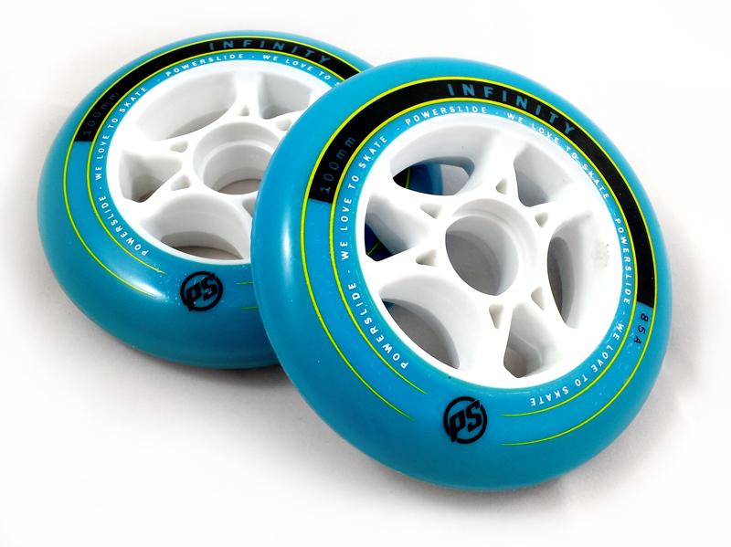 2 roues Powerslide Infinity bleues