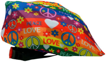Couvre-casque peace & love