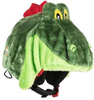 Couvre-casque dragon vert