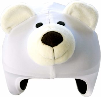 Couvre-casque ours blanc