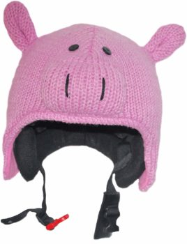 Couvre-casque Pink Yak cochon