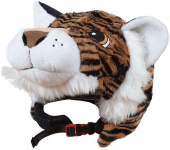 Couvre-casque tigre peluche