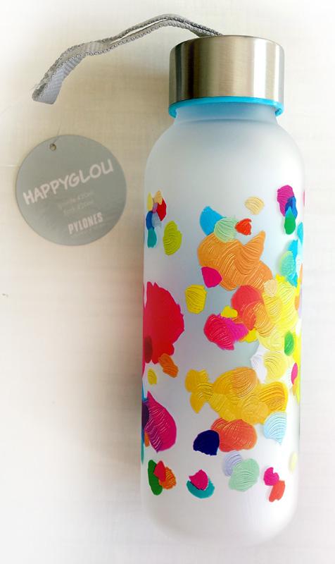 Bouteille Happyglou avec son étiquette